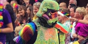 Rainbow Shadowtrooper at Manchester Pride 2018