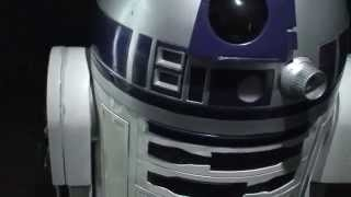 Star Wars R2-D2 Film Prop presented at London Exhibition